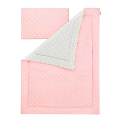 Pościel Dziecięca Lovely Dots Pink i Grey