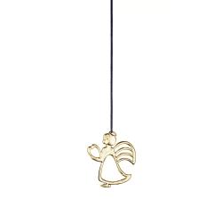 Ozdoba choinkowa anioł z sercem, 7 cm, pozłacana