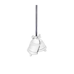 Ozdoba choinkowa świąteczne dzwonki, 6 cm, posrebrzana