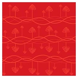 Obrus Tangle 140 x 320 cm - red