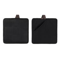 Łapka do garnków ND, 2 szt., czarny, 22x22 cm