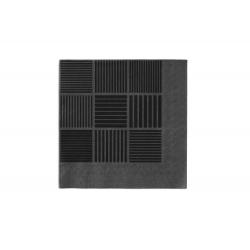 Serwetki ND, 20 szt., czarne/szare,  40x40 cm