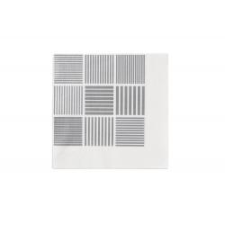 Serwetki ND, 20 szt., białe/szare,  40x40 cm