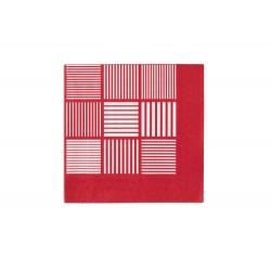 Serwetki ND, 20 szt.., czerwone/białe,  40x40 cm