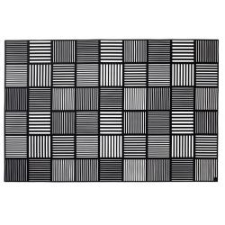 Mata pod nakrycie ND , 2 szt., czarna, 30x45 cm, silikon