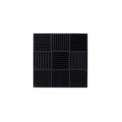 Podkładka pod naczynia ND, czarna, 18x18 cm, silikon