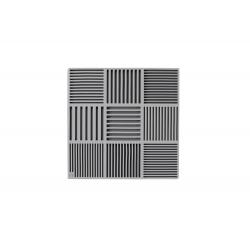 Podkładka pod naczynia ND, szara, 18x18 cm, silikon