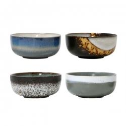 Zestaw mis ceramicznych 70's M - HK Living