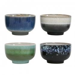 Zestaw mis ceramicznych 70's - HK Living