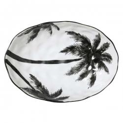 """Porcelanowa salaretka w palmy z serii """"Dżungla"""" - HK Living"""