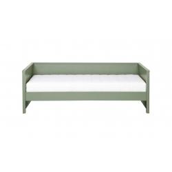 Łóżko z oparciem NIKKI oliwkowe - Woood