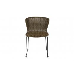 Krzesło WINGS ciemnobrązowe (2 szt) - Woood