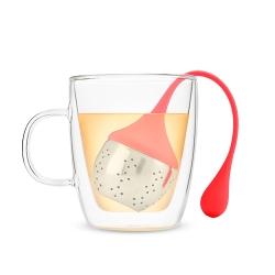 Zaparzacz do herbaty czerwony Pinky Up