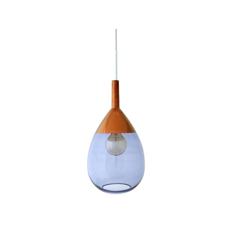 Lampa wisząca Lute, ciemnoniebiesko-miedziana