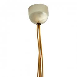 Kryształowa lampa wisząca  - zestaw siedmiu lamp/złoto