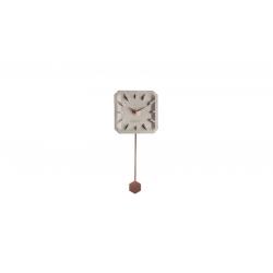 Zegar betonowy TIKTAK miedziane elementy