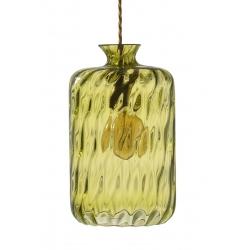 Lampa wisząca Pillar, oliwkowa z wgłębieniami