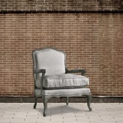 Fotel dębowy - len DB001324