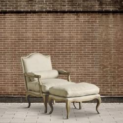 Fotel dębowy z podnóżkiem DB001573