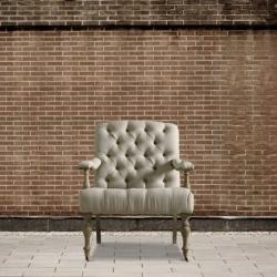 Fotel pikowany na kółkach DB001843