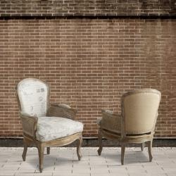 Fotel z ratanowymi podłokietnikami DB002586