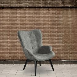Fotel eko - skóra, szary DB004246