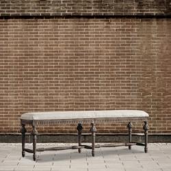 Ławka dębowa -  tapicerowana DB002583