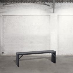 Ławka sosnowa - czarna DB004440
