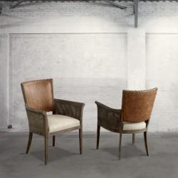 Krzesło dębowe z podłokietnikami DB002258