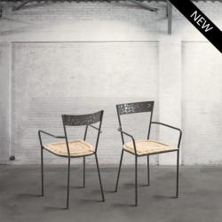 Krzesło metalowe - juta DB002259