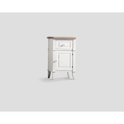 Stolik nocny z drzwiczkami i szufladą - biały DB001701