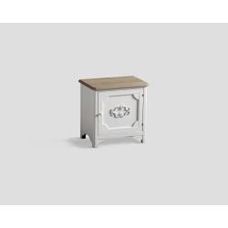 Stolik nocny z drzwiczkam - biały DB001700