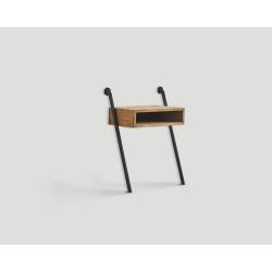 Stolik nocny z drewna z recyklingu i metalu DB004419