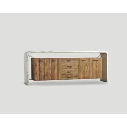 Czterodrzwiowa komoda z drewna z recyklingu DB003602
