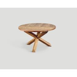 Stół z drewna z recyklingu - puzzle design DB004134