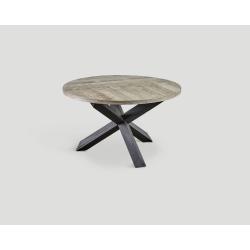 Stół z drewna z recyklingu - puzzle design DB004133
