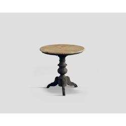 Stół z drewna z recyklingu - okrągły blat DB002881