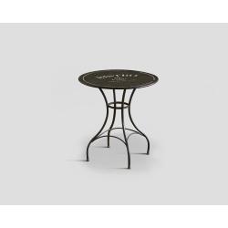 Stół okrągły, metalowy - czarny DB002425