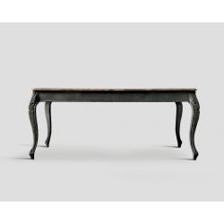 Stół rozkładany - prostokątny, dębowy blat DB002860