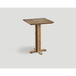 Stół barowy z drewna z recyklingu - kwadratowy, mozaikowy blat DB004219