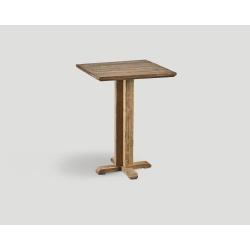 Stół barowy z drewna z recyklingu - kwadratowy blat DB004217