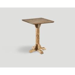 Stół barowy z drewna z recyklingu -  kwadratowy blat DB004212