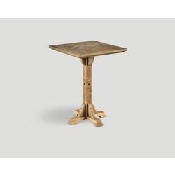 Stół barowy z drewna z recyklingu - mozaikowy, kwadratowy blat DB004210