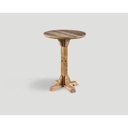 Stół barowy z drewna z recyklingu - okrągły blat DB004208