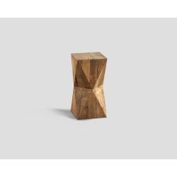 Stolik okazjonalny o geometrycznym kształcie  w kolorze naturalnego drewna DB003978