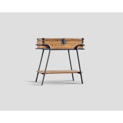 Prostokątny stolik okazjonalny z blatem w kształcie skrzyni DB003568