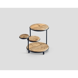Okrągły stolik okazjonalny - drewniane blaty DB003591