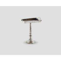 Prostokątny stolik okazjonalny z blatem w kształcie tacy - aluminiowy DB002668