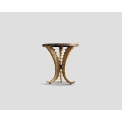 Okrągły stolik okazjonalny - kuty blat z ćwiekami DB001106