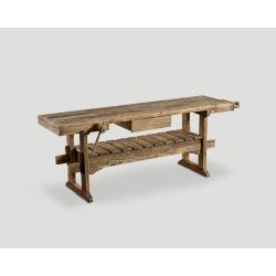 Konsola/warsztat z drewna z recyklingu - jedna szuflada DB003045